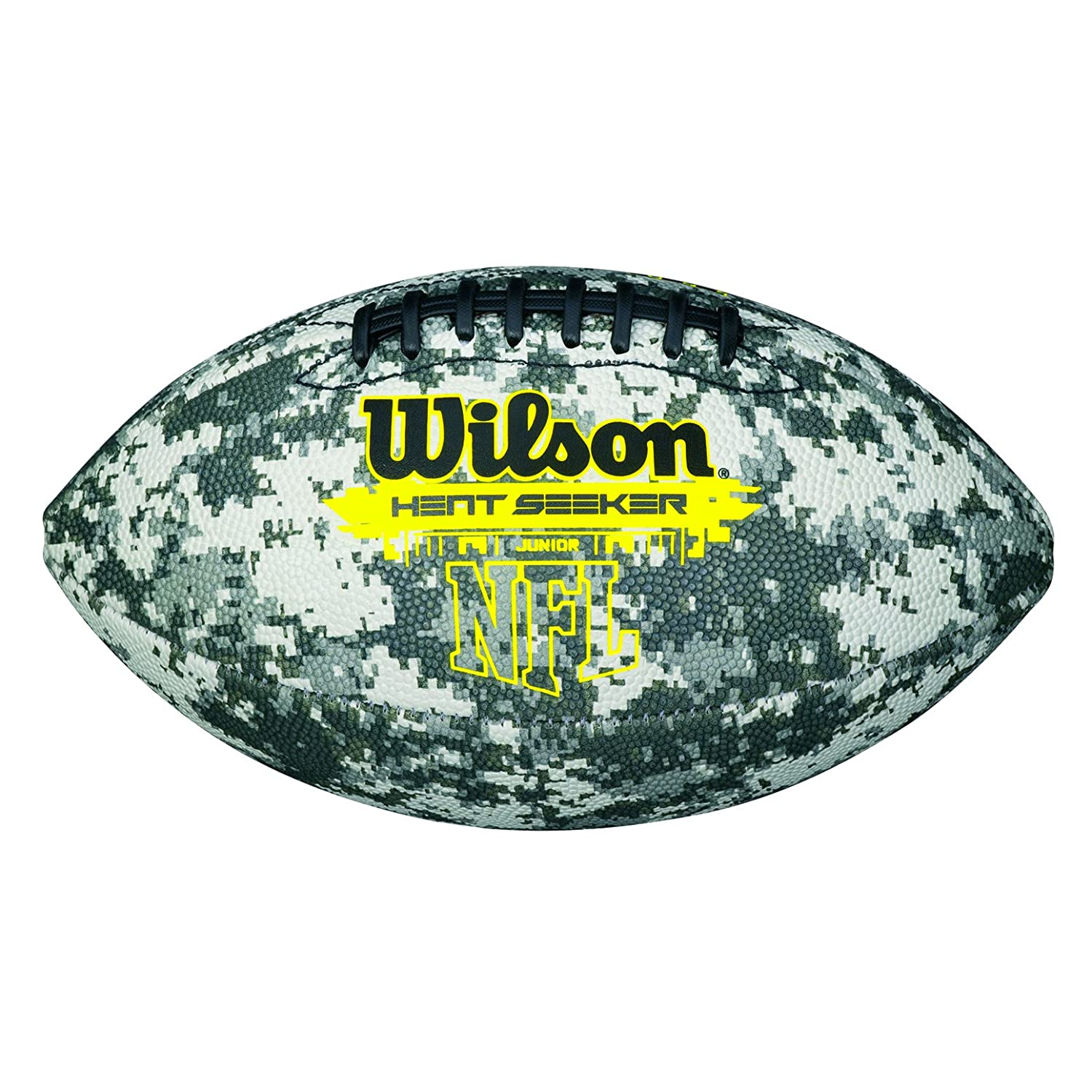 Wilson American Football, Recreational Use, Kids Size, HEAT SEEKER, Digi Camo, WTF1562XD Red/Red WTF1608XB