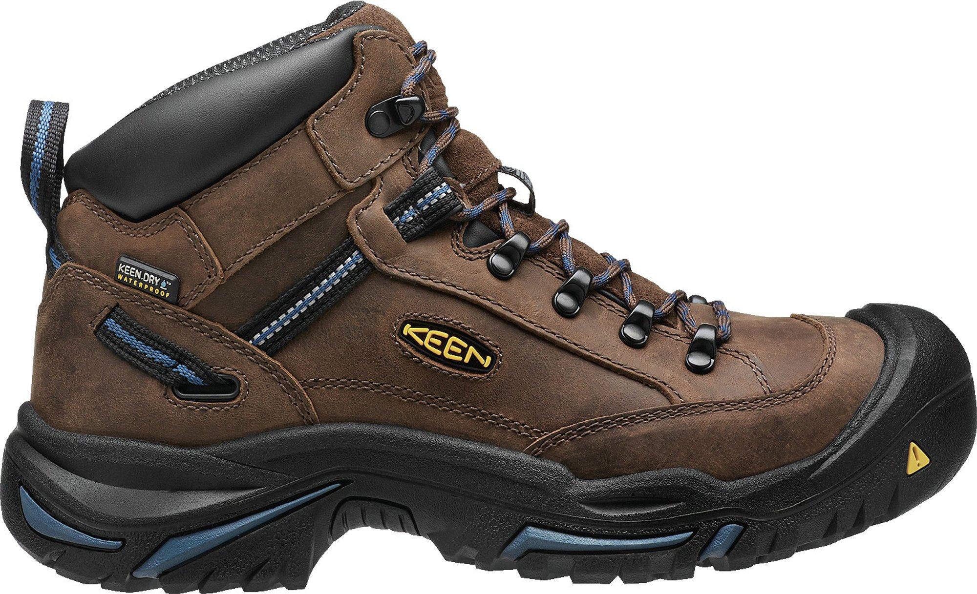 Keen Utility Men's Braddock Mid AL Waterproof M Work Boot, Bison/Ensign Blue, 11 D US