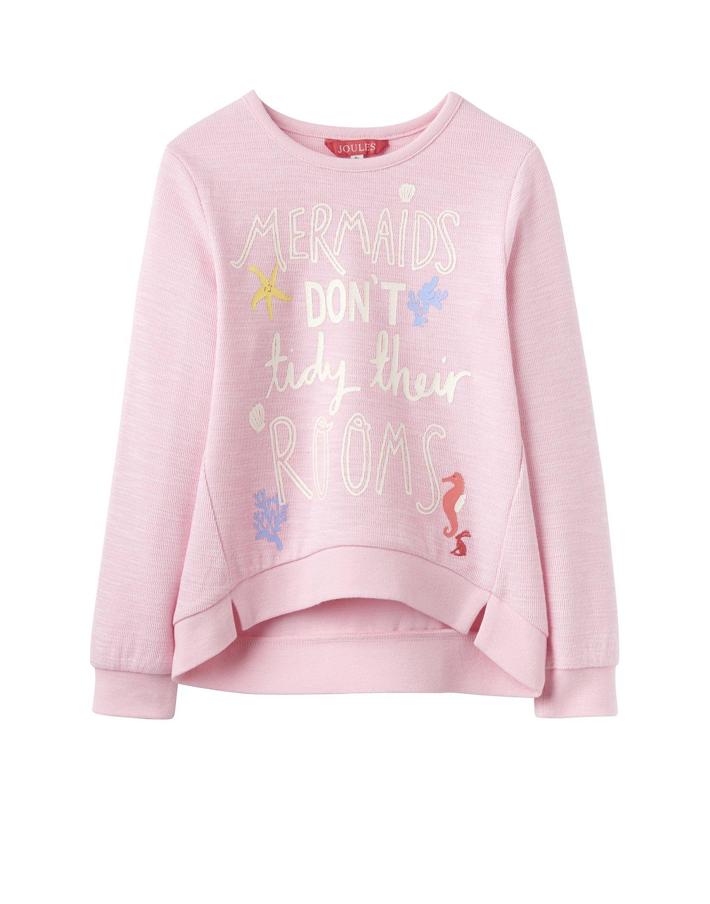 Joules Screen Print Sweatshirt - Rose Pink - 5 Years - 110 cm by Joules