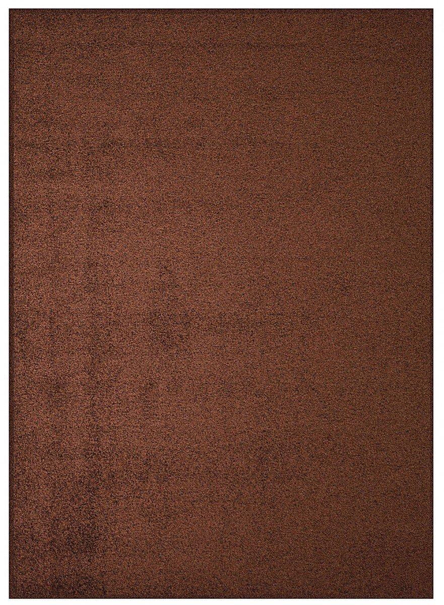 Shaggy Teppich Eco - Farbe wählbar   schadstoffgeprüft pflegeleicht schmutzresistent robust strapazierfähig Wohnzimmer Kinderzimmer Schlafzimmer Küche Flur, Farbe Schoko-Braun, Größe 200 x 250 cm