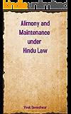 Alimony and Maintenance under Hindu Law
