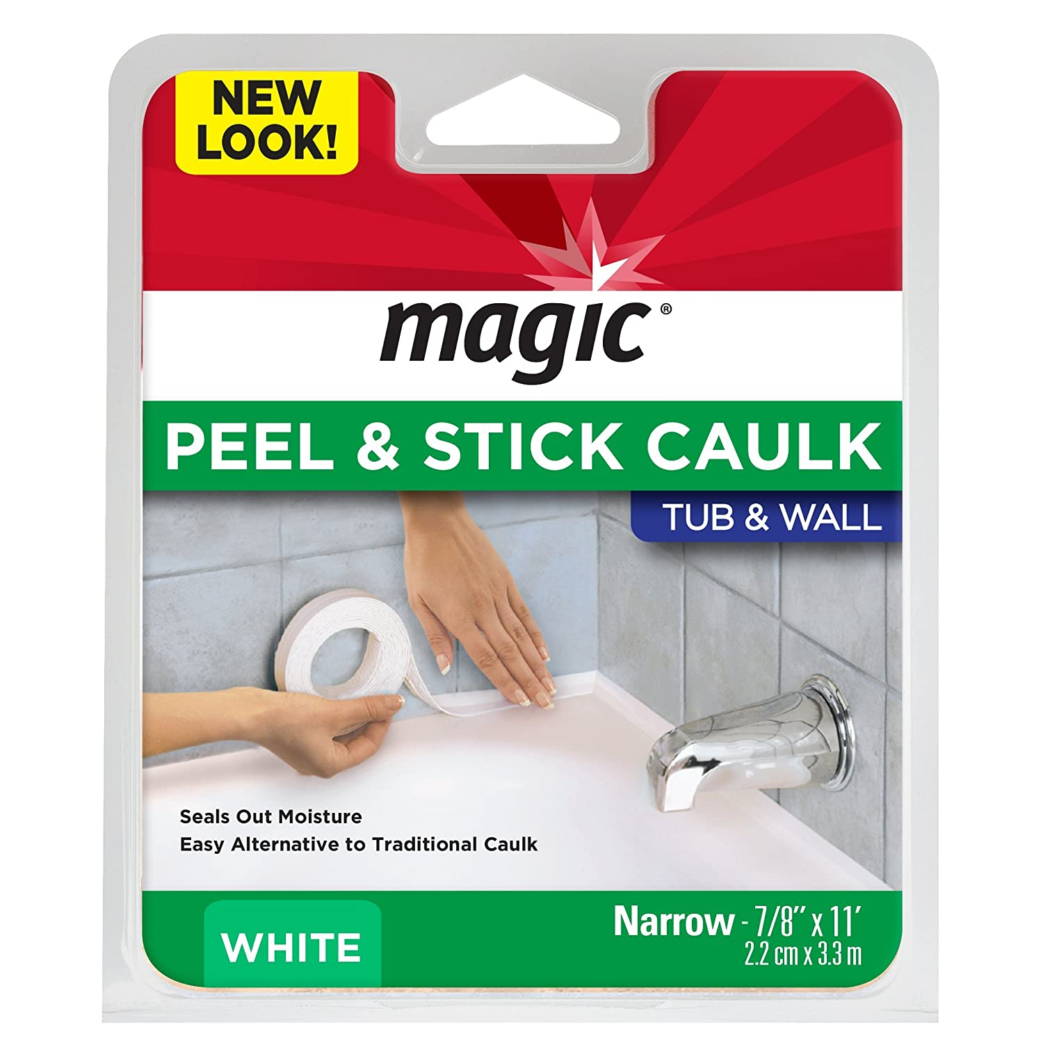 Best Caulk For Trim Amazoncom Magic Tub Wall Caulk Strip 7 8 By 11 White Home