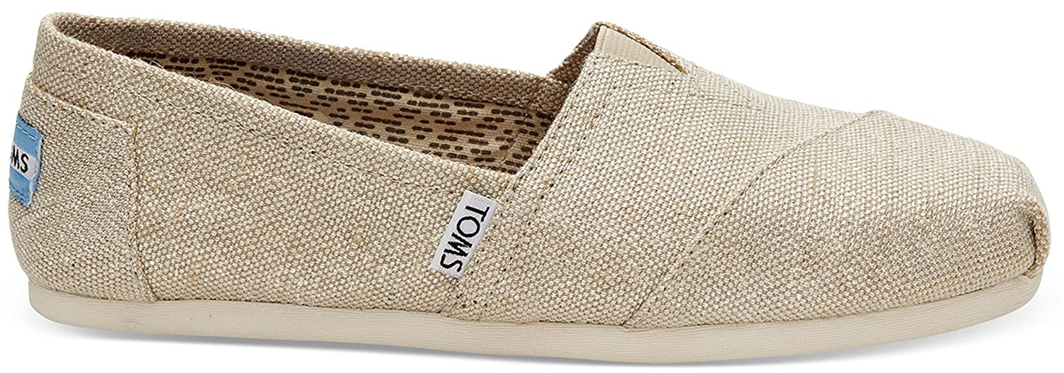 Amazon.com | TOMS Classics Natural Metallic Burlap 10008015 Womens Slip-Ons | Fashion Sneakers