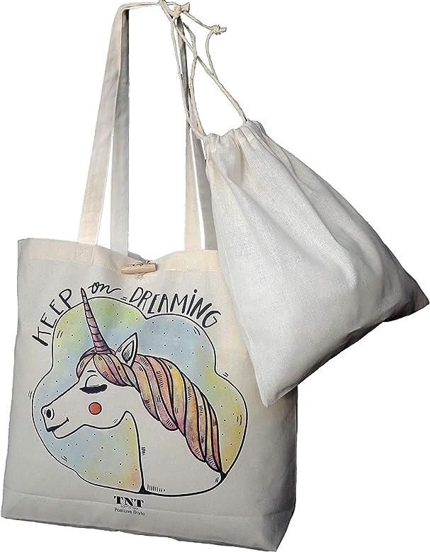 TNT Positive Style Bolsa de algodón con parte inferior - Estampado ...