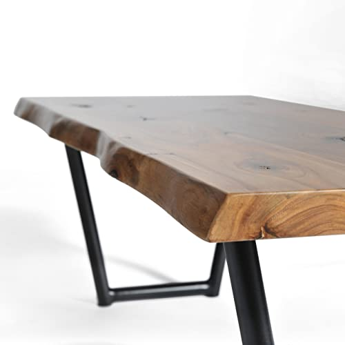 Henry Coffee Table, Solid Walnut, Live Edge Coffee Table, Mid-century modern tapered leg