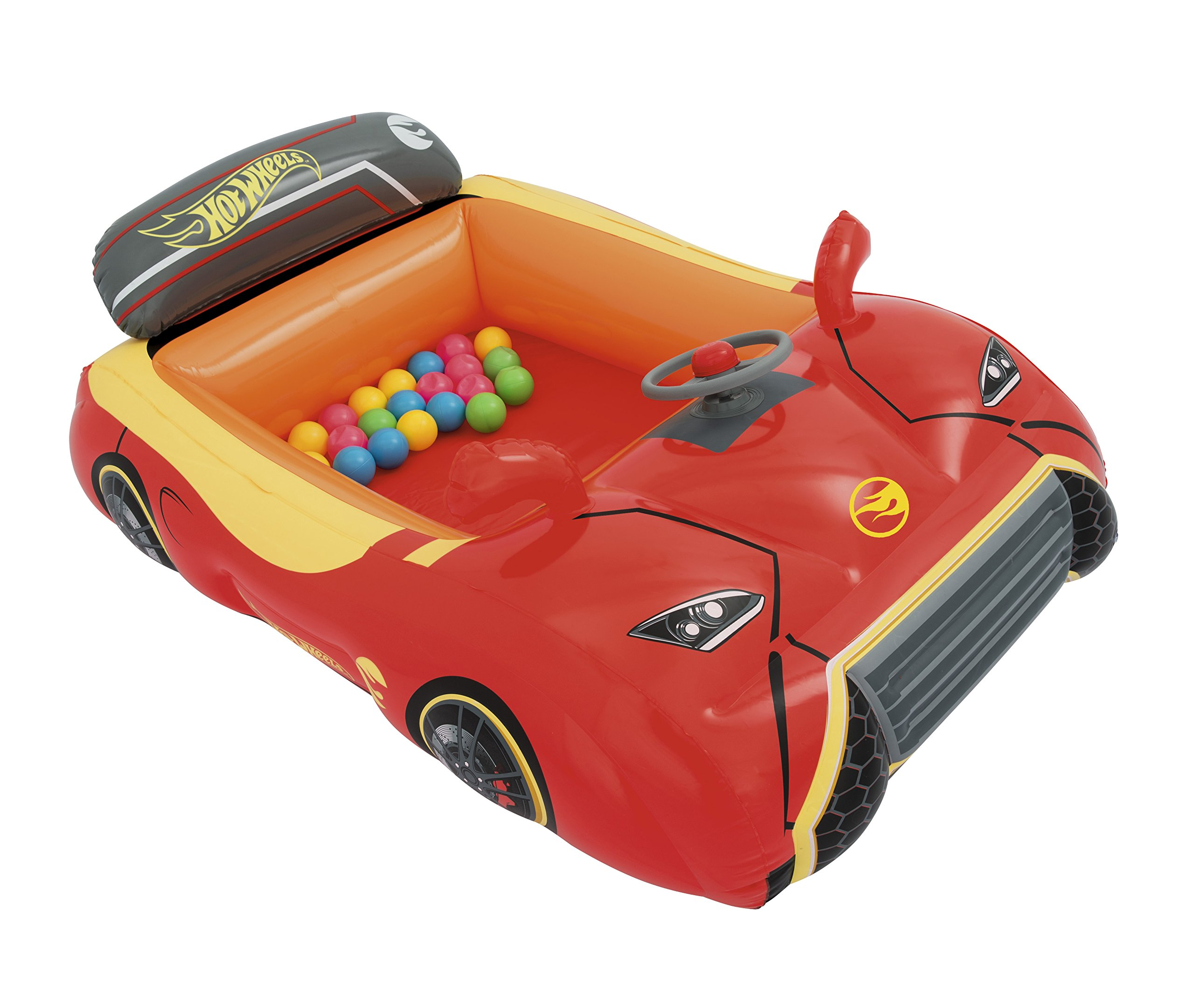 Bestway Hot Wheels Children's Inflatable Car Ball Pit, Includes 25 Balls by Bestway (Image #4)