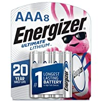 Energizer AAA Lithium Batteries, Ultimate Lithium Triple A Battery (8 Count), Longest-Lasting...