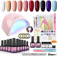 Deals on Fashion Zone 10 Color Gel Nail Polish Starter Kit