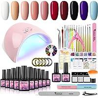 Deals on Fashion Zone 10 Color Gel Nail Polish Starter Kit