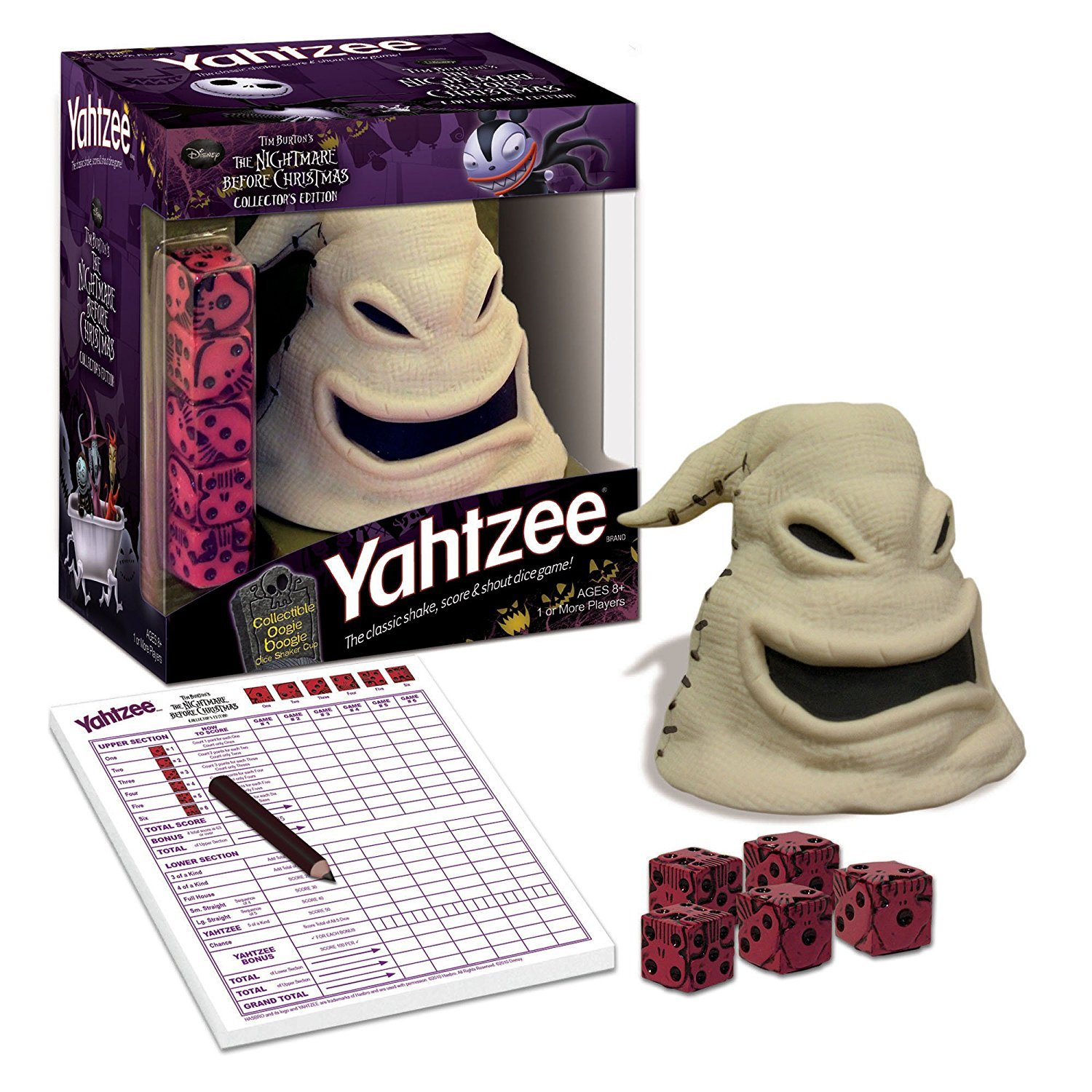 The Nightmare Before Christmas Yahtzee- Oogie Boogie Limited Release Glow In The Dark Dice Cup by Yatzee