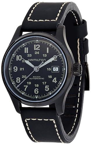 Hamilton H70585733 - Reloj de Pulsera Hombre, Color Negro: Amazon.es: Relojes