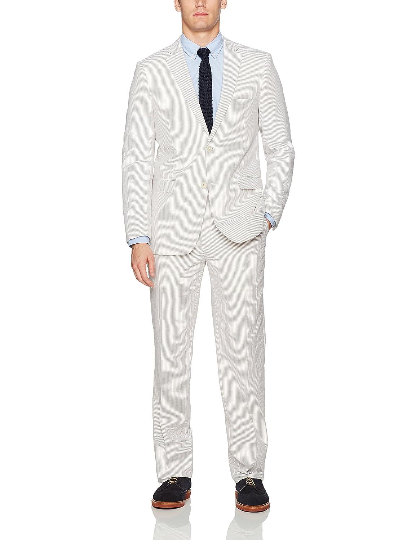 Adolfo Men's Seersucker Modern Fit Suit C622_1