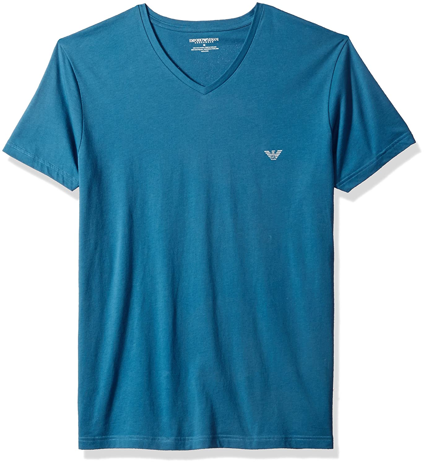 48b9ef5ac700 Emporio Armani Men's Superfine Pima Cotton Vneck T-Shirt at Amazon Men's  Clothing store: