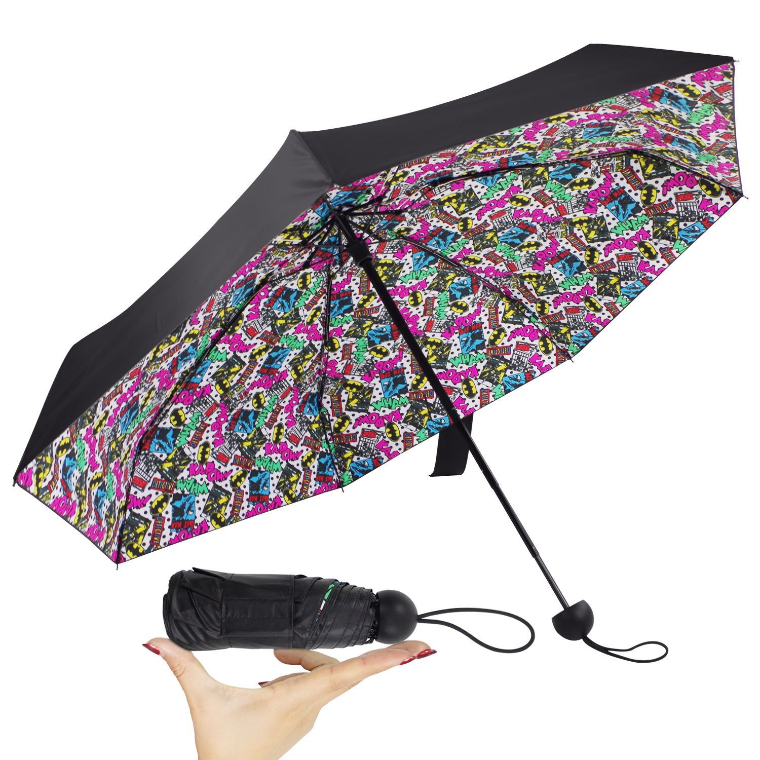 Small Compact Travel Umbrella Ultra Lightweight& Mini with UV Protaction Portable for Women