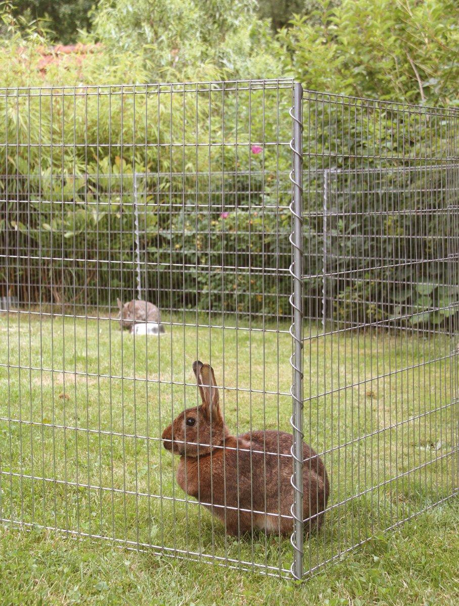 Teichschutzzaun Kleintiergehege 710 x 80 cm inkl 6 Gitter 7