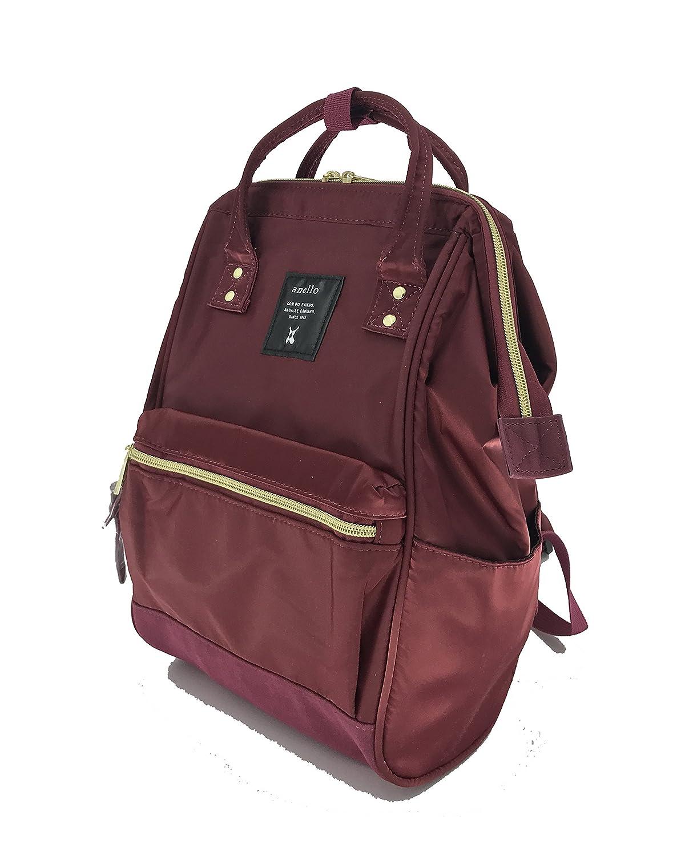 657c947c5bbb Amazon.com | Anello Nylon Square Shaped Mini Backpack (Wine) | Backpacks