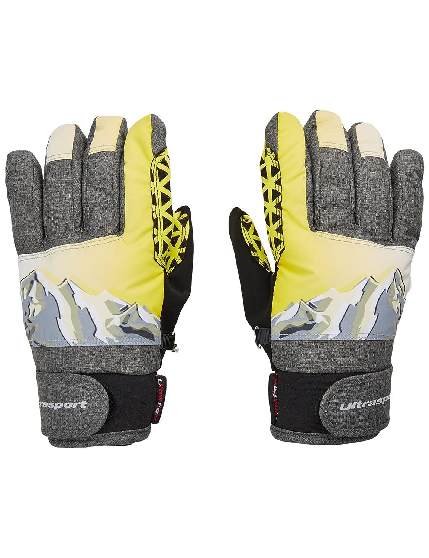 Ultrasport Ski Kinderhandschuhe Rocky, flexibler Finger-Handschuh für Kinder mit viel Bewegungsfreiheit, wasserbeständig, winddicht, für 6–14 Jahre