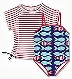 Snapper Rock Boys & Girls UPF 50+ UV Protection Short Sleeve Swimsuit Set