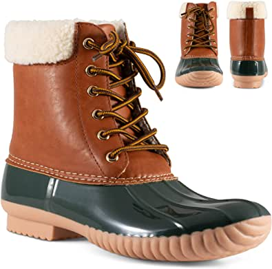 Twisted Women's Becca Sherpa Cuff Insulated Duck Boot