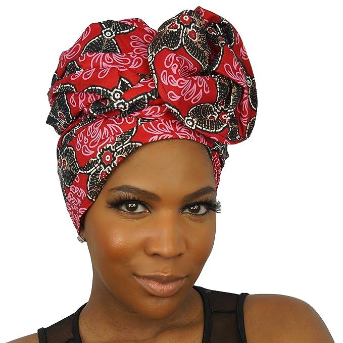 Amazon.com: Urban Turbanista Head Wrap -African Wax Print Headwrap Scarf - Boo KAE: Clothing