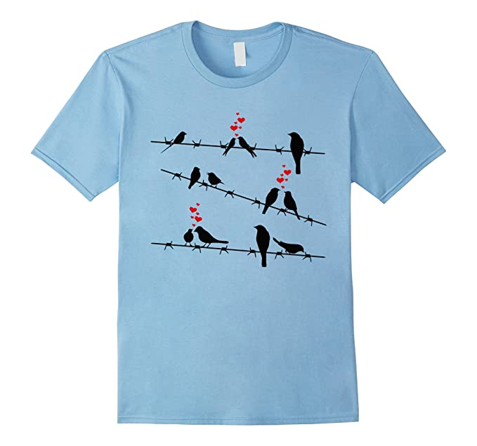Amazon.com: Cute Birds on a Wire T-Shirt - Mens & Womens Sizes ...