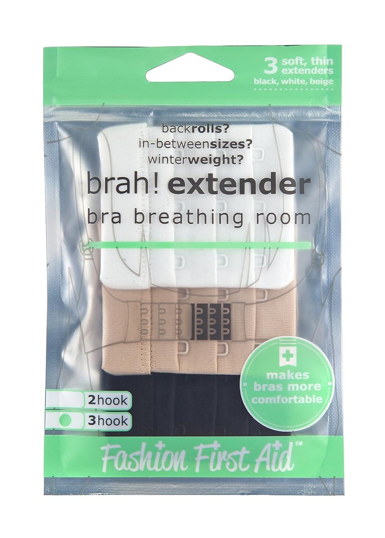 Brah Fashion First Aid Extender BH Verl/ängerung R/ückenteil-Extender Verl/ängerung des BH-Verschlusses 3-St/ück 2-Haken Schmal