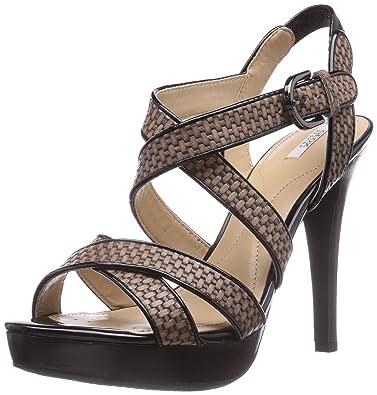 D IVANA SAND C, Damen High Heels Sneakers, Beige (DOVE GREY/BLACKC1381), 40 EU Geox