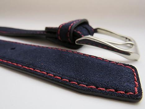 Legado Cinturón Hombre piel marino de cuero serraje marino costura ...