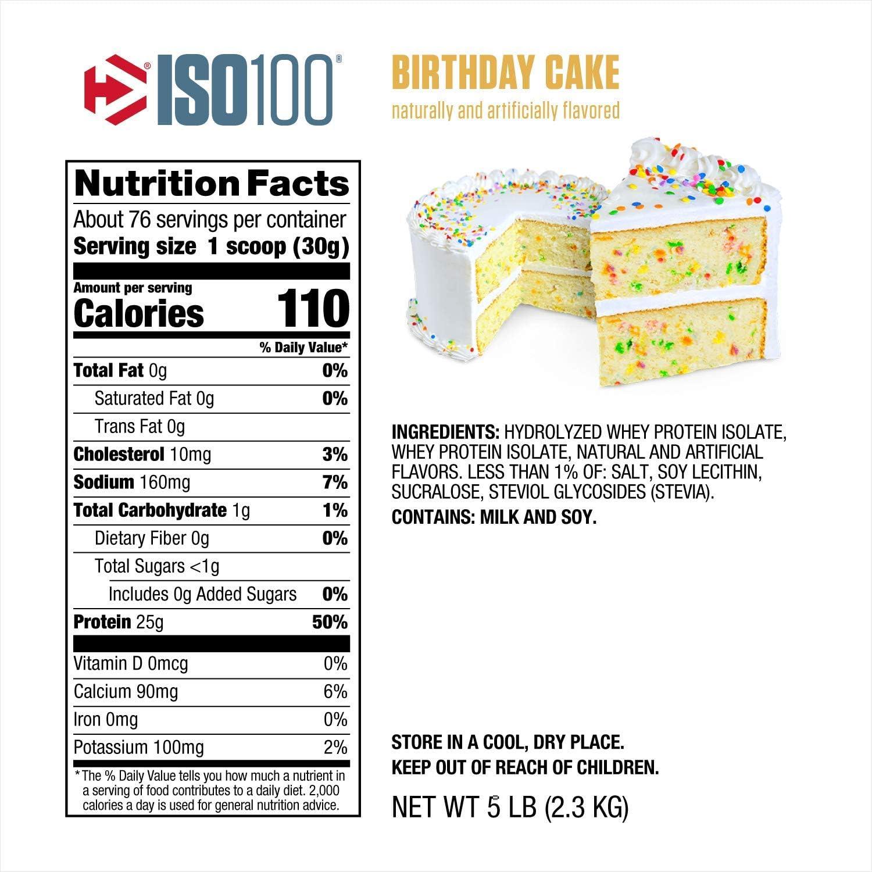 ISO 100 5 lbs (2275g) Tarta de cumpleaños: Amazon.es: Salud y ...