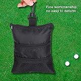 Alomejor Golf Ball Bag Multi-Pockets Golf Tee Pouch Durable Lightweight Oxford Mesh Bag For Golf Sports