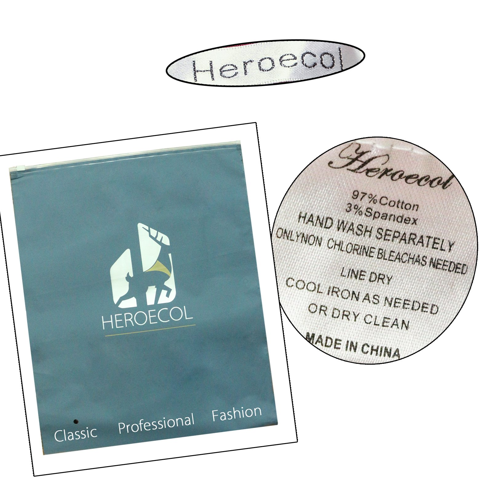 Heroecol 50s 60s Hepburn 3/4 Sleeve Style Vintage Retro Swing Rockailly Dresses Size XL Color Black by Heroecol (Image #6)