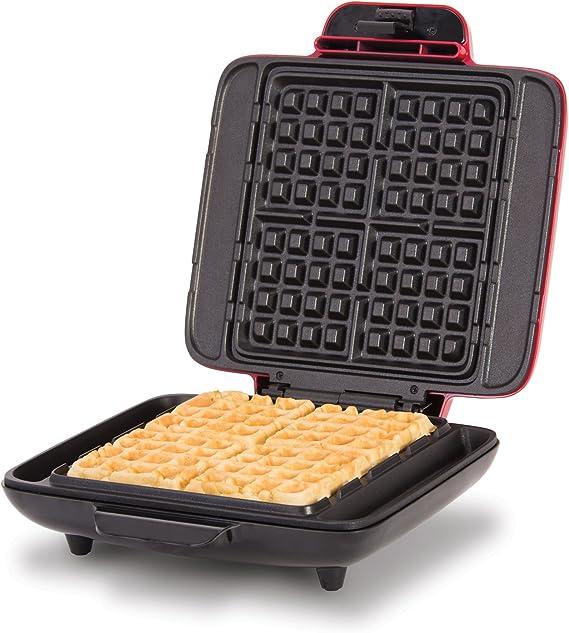 DASH DNMWM400RD No Mess Belgian Maker Waffle Iron