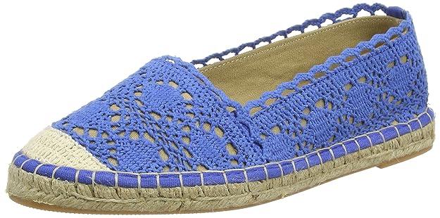 Buffalo327675 Cotton - Alpargata Mujer, Color Azul, Talla 38