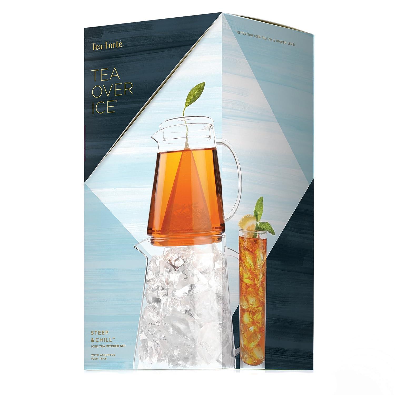Tea Over Ice- Iced Tea Pitcher Set with Assorted Teas Tea Forte