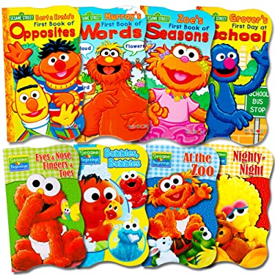 Sesame Street Ultimate Board Books Set For Kids Toddlers -- Pack of 8 Board Books: Toys & Games