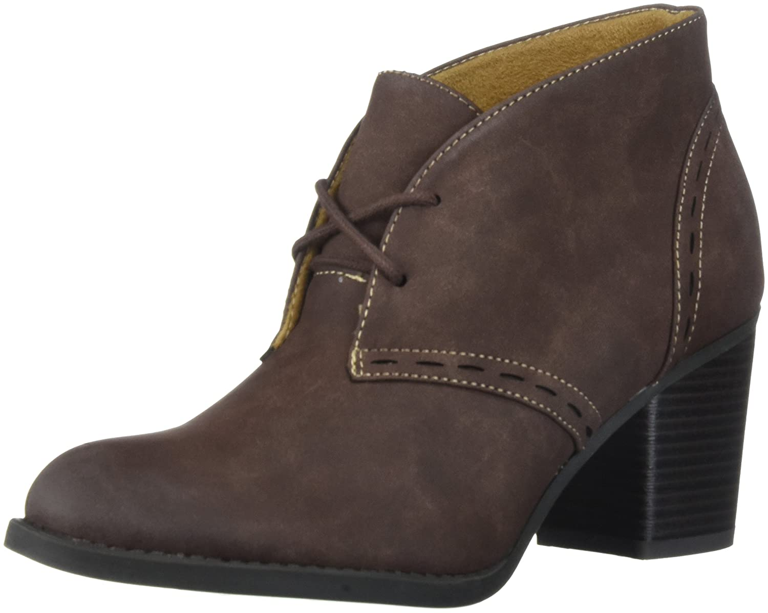 NATURAL SOUL Women's Tracy Ankle Boot B074ST5SXB 8.5 M US|Brown