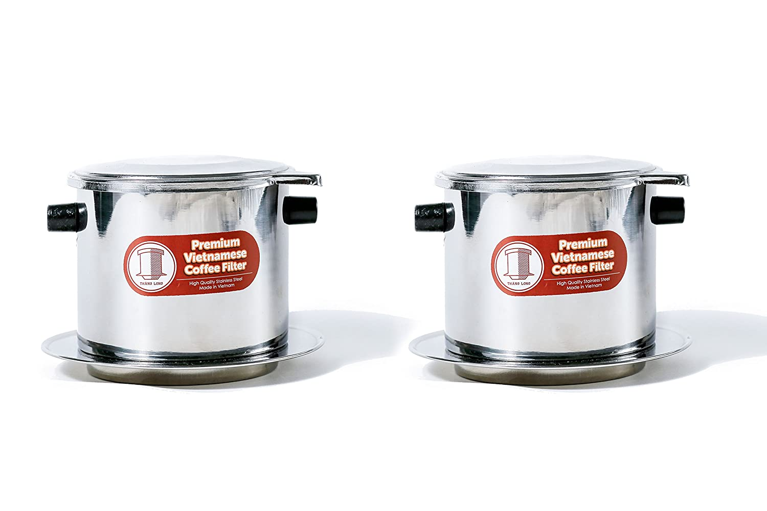 Set of 2 Vietnamese Traditional Coffee Phin Filter. Restaurant Quality Coffee- 15 Ounce