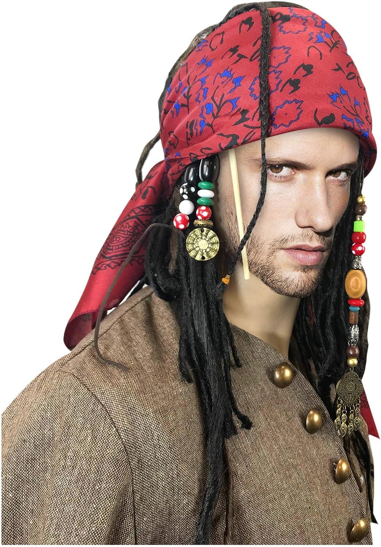 costumebase Peluca exacta con Bandana Dreadlock DLX Jack Sparrow ...
