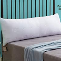 Decroom Memory Fiber Filling Full Body Pillow -Bamboo Hypoallergenic Cooling Cover-Soft Long Side Sleeper Pillows for…