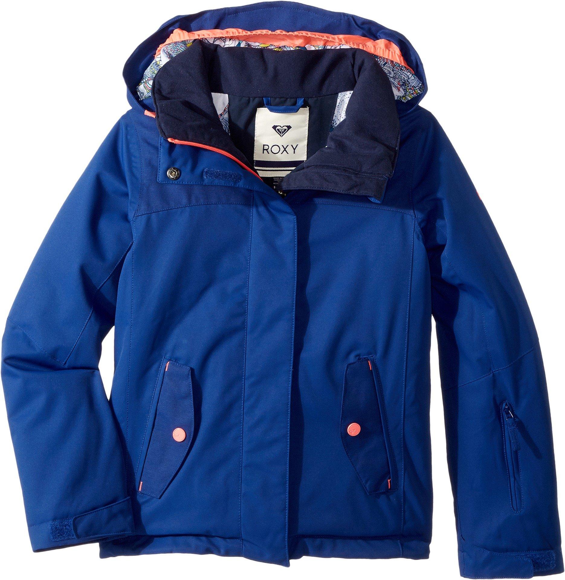 Roxy Big Girls' Jetty Solid Snow Jacket, Sodalite Blue, 14/XL