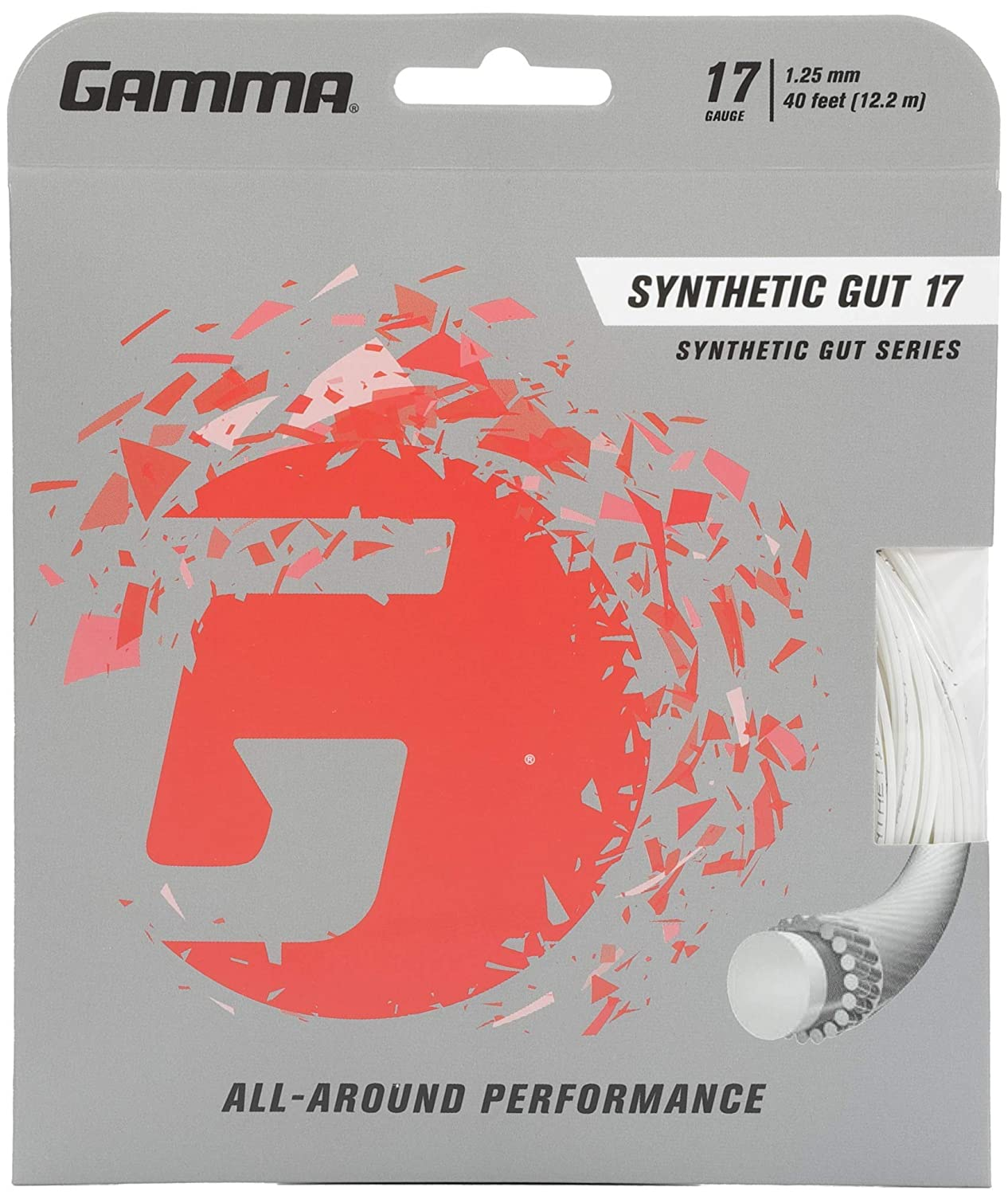 Gamma Synthetic Gut Tennis String White