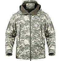 YEVHEV Hunting Coat Jacket for Men Hooded Soft Shell Winter Outdoor