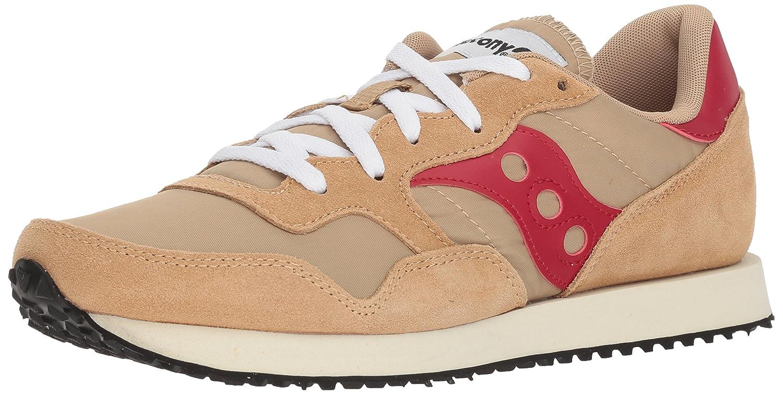 Saucony Originals Men's DXN Trainer Vintage Running Shoe B073J2Z3NM 9.5 D(M) US|Tan/Red