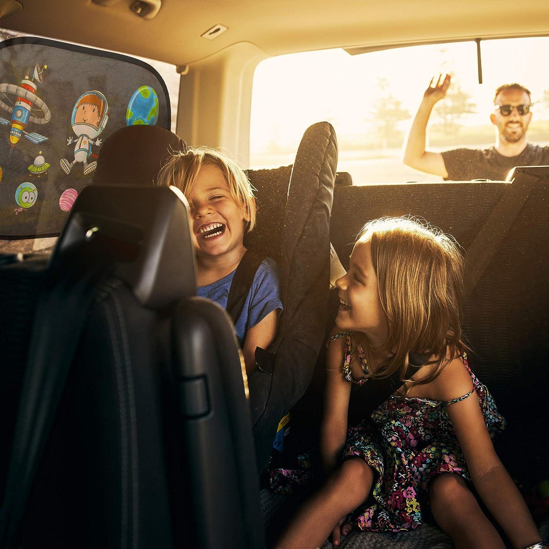 Ottima protezione dal sole The Good Mate 2 Tendine parasole auto bambini 48x31cm Premium Prima infanzia neonato accessori macchina Oscuranti finestrini auto Statiche adesive senza ventose