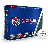 Wilson Staff, Weiche 3-Piece Herren Golfbälle für weite Distanzen, 12er-Pack, DX3, Weiß