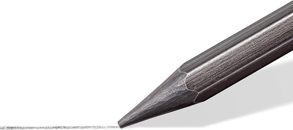 Staedtler Design Journey 100G-M6 Estuche con 6 l/ápices de grafito completo de durezas variadas.