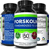 Potent Natural Labs - Pure Forskolin Weight Loss Supplement and Appetite Suppressant - 60 Capsules