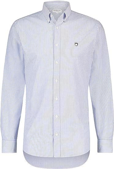 McGregor - Regular Fit a Rayas Camisa Oxford Tramo Hombres ...