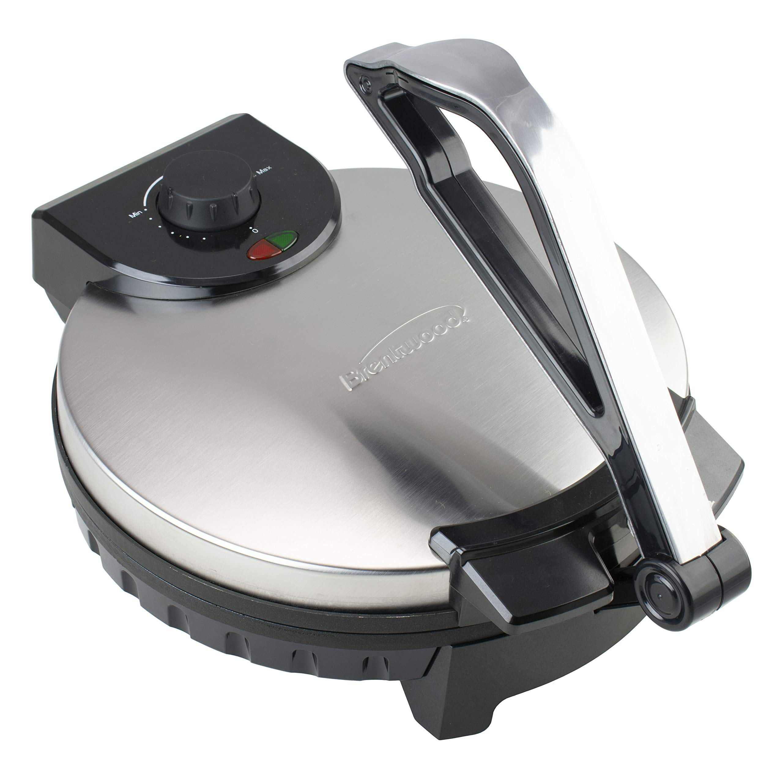Brentwood Appliances TS-129 12-Inch Nonstick Electric Tortilla Maker, 12in, Metallic