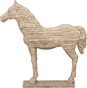 Deco 79 Polystone Horse, 19 by 12-Inch